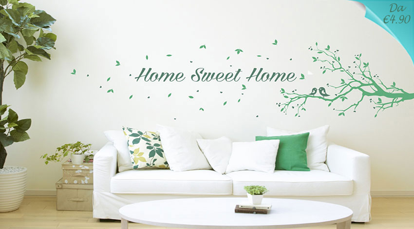 Stickers murali e adesivi da parete n 1 in italia solo i for Bordure adesive per pareti