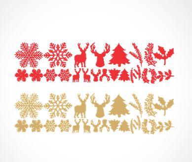 Adesivo murale renne neve e vischio stickers murali - Adesivi finestre natale ...