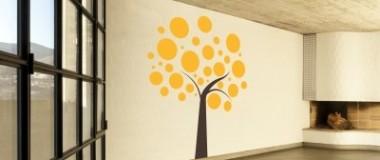 adesivo murale albero astratto