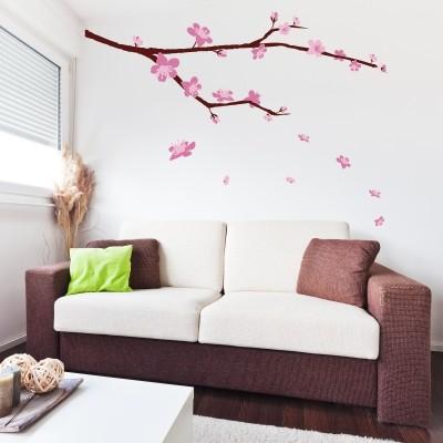 Adesivo murale ciliegio in fiore stickers murali - Albero su parete ...