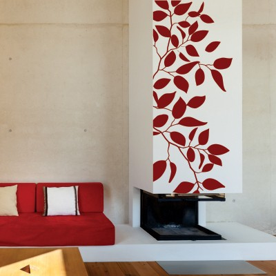 Adesivo murale foglie d 39 estate stickers murali - Alberi decorativi da parete ...