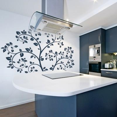 Adesivo murale albero primaverile stickers murali for Stickers murali cucina