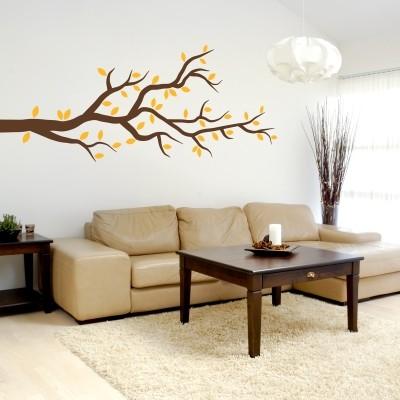 Adesivo murale ramo autunnale stickers murali for Decorare muro stanza