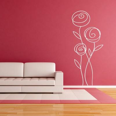 Adesivo murale rosa astratta stickers murali for Murales per cucina