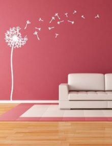 adesivo murale albero soffione