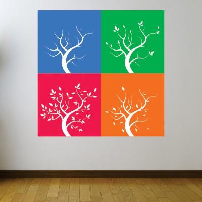 Alberi multicolor per decorare i muri stickers murali for Stickers per muri