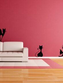 adesivo murale animale gatti