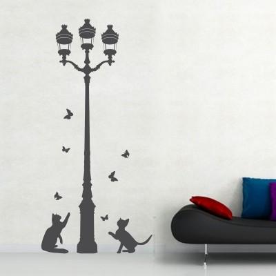 Adesivo murale gatti e lampione stickers murali - Disegni per muri di casa ...