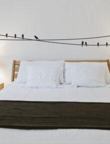 adesivo murale animale uccelli fili luce