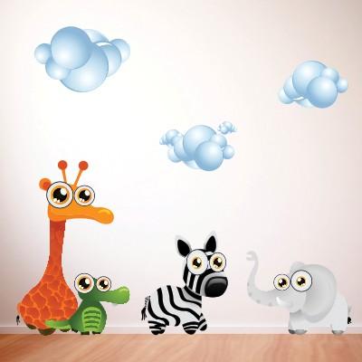 Decorare con gli adesivi murali con animali stickers murali - Stickers cameretta bambino ...