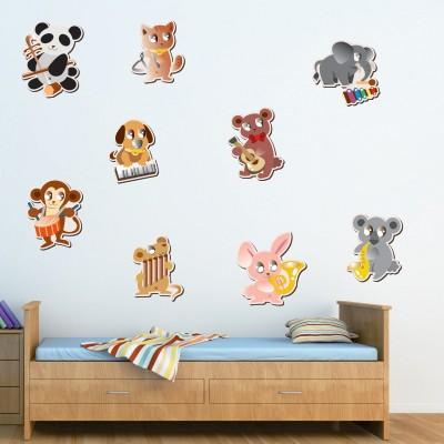 Adesivi Murali Con Animali.Adesivo Murale Baby Animaletti Stickers Murali