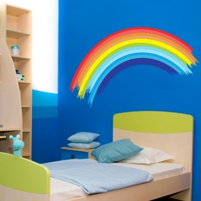 Arcobaleno l 39 adesivo murale pi colorato stickers murali - Camera da letto decorazioni murali ...