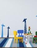 adesivo murale bambino giraffe