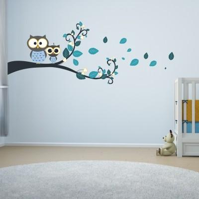 Adesivi Per Stanzette.6 Adesivi Murali Con Gufi Per La Cameretta Dei Bambini