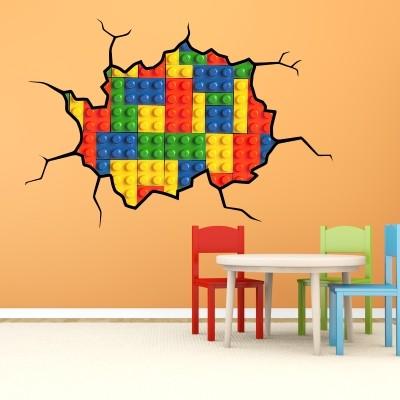 Adesivi murali cameretta bambini best decorare la for Lego giganti arredamento