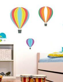 adesivo murale bambino mongolfiera