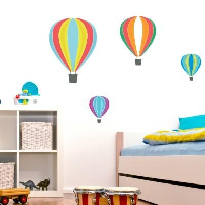 Adesivo murale mongolfiere stickers murali - Stickers cameretta bambino ...