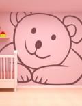 adesivo murale bambino orsacchiotto