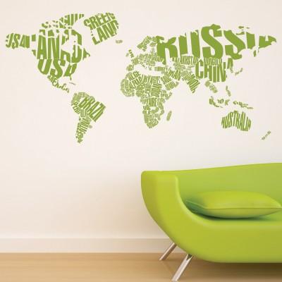 Adesivo murale il mondo stickers murali for Murales per cucina