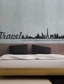 adesivo murale citta travel richer