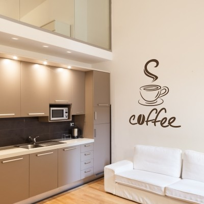 Wall stickers con il caff una cucina calorosa stickers for Stickers murali per piastrelle cucina