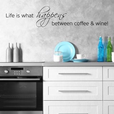 Adesivo Murale Coffee And Wine Stickers Murali