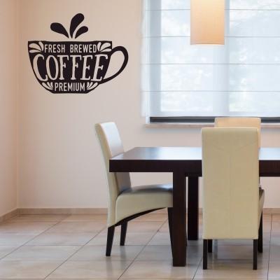 Adesivo murale fresh coffee stickers murali for Rivestimento adesivo cucina