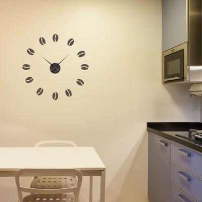 Adesivo murale orologio caff stickers murali for Scritte adesive cucina