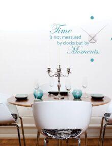 adesivo murale cucina orologio moments