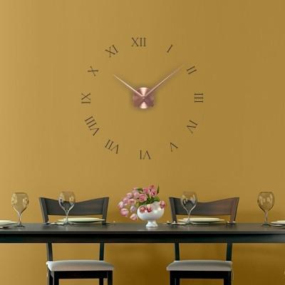 Adesivo murale orologio numeri romani stickers murali for Rivestimento adesivo cucina
