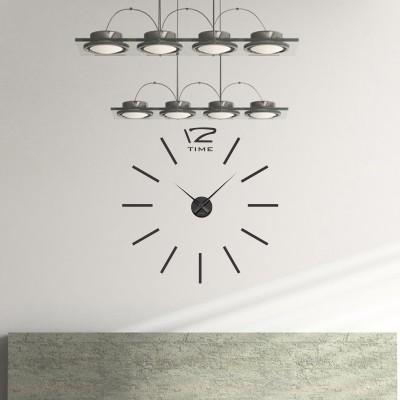 adesivo murale cucina orologio stilizzato