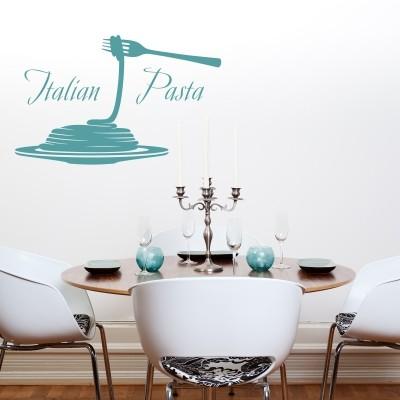 Adesivo murale pasta italiana stickers murali for Scritte adesive cucina