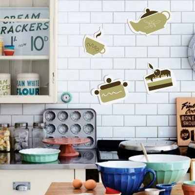 Adesivi murali per le piastrelle della cucina stickers for Scritte adesive cucina
