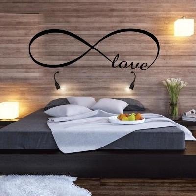 Adesivo murale amore senza fine stickers murali - Stencil per camera da letto ...