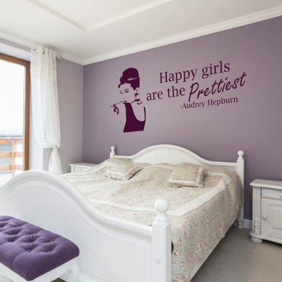 I migliori adesivi murali di audrey hepburn stickers murali - Adesivi parete camera da letto ...