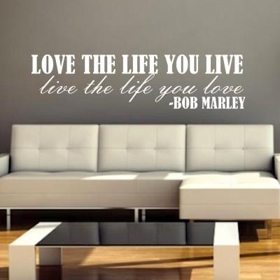 Adesivi Murali Bob Marley.Adesivo Murale Bob Marley Love Life Stickers Murali