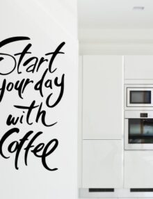 adesivo murale frase coffee