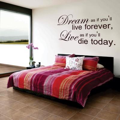 Adesivi murali originali per ogni stanza stickers murali - Frasi porche a letto ...