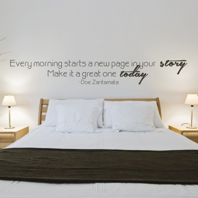 Adesivo murale every morning stickers murali - Stickers per camera da letto ...