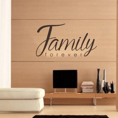 Adesivo murale family forever stickers murali - Assicurazione sulla casa si puo detrarre ...