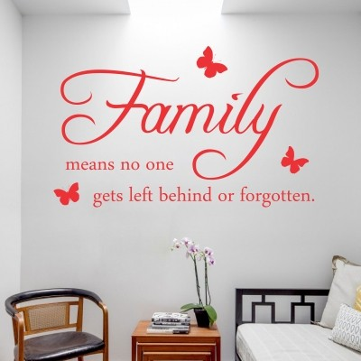 Adesivo murale family means stickers murali - Scritte sulle pareti di casa ...