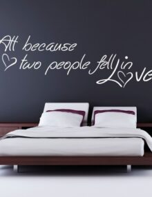 Adesivi murali per camera da letto stickers murali for Scritte da parete