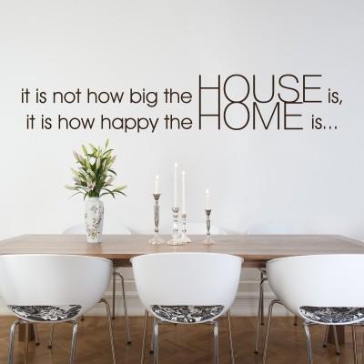 I migliori adesivi murali home sweet home stickers murali - Scritte sulle pareti di casa ...