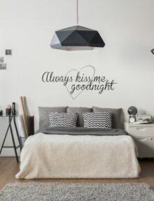 adesivo murale frase kiss me good night