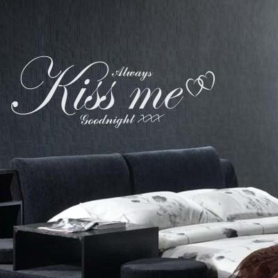 Adesivo murale kiss me stickers murali - Camera da letto decorazioni murali ...