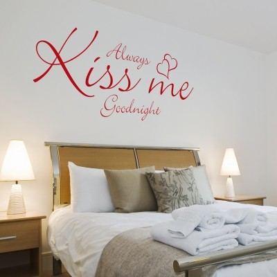 I migliori wall stickers con frasi famose stickers murali - Stencil parete camera da letto ...