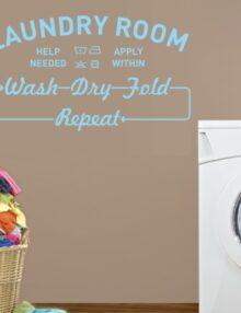 adesivo murale frase laundry room