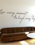adesivo murale frase live every moment