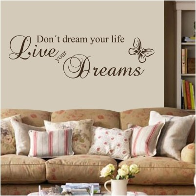 adesivo murale live your dreams stickers murali