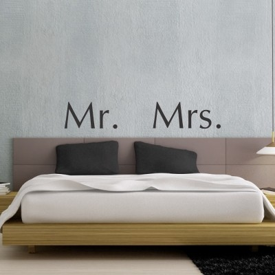 Adesivo murale mr mrs stickers murali for Muri colorati camera da letto